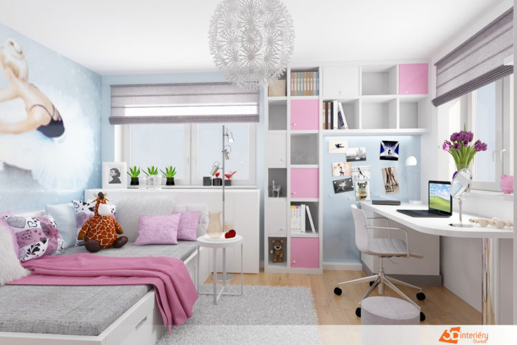 dětské pokoje 3D interiéry Čtvrtek
